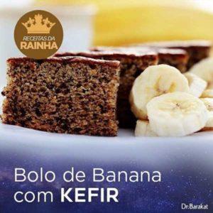 Bolo de banana com kefir